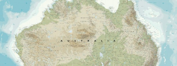 Canvas Australia Map