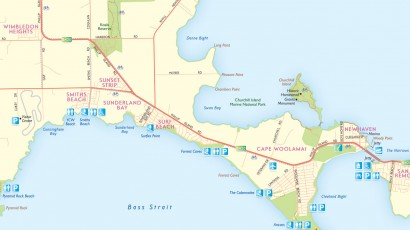 Phillip Island Visitor Map