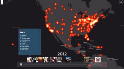 INXS Web Map